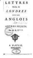 Letters On England - LETTER XX - ON SUCH OF THE NOBILITY AS CULTIVATE THE BELLES LETTRES