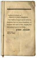 State Of The Union Address 12/3/1799 (adams)