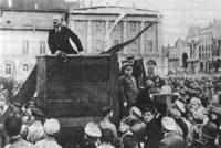 Trotzky On The Platform In Petrograd