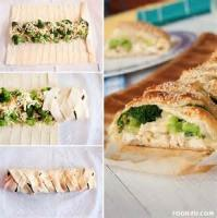Appetizers - Bread -  Broccoli And Chicken Braid