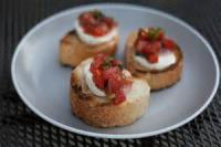 Appetizers - Bread -  Bruchetta With Basil And Mozzarella