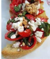Appetizers - Bread -  Bruschetta With Feta Cheese