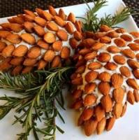 Appetizers - Cheese -  Almond Cheese Pinecone