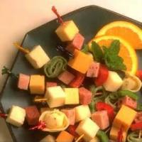 Appetizers - Cheese -  Peppered Cheese Kabobs