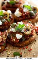 Appetizers - Cheese -  Smoky Tomato Basil Salsa Over Goat Cheese