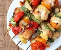Appetizers - Chicken -  Chicken And Pineapple Kabobs