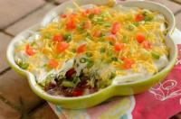 Appetizers - Dip -  Creamy Layered Bean Dip