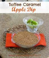 Appetizers - Dip Toffee Dip With Apples