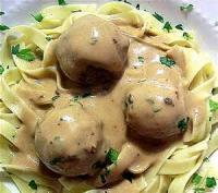 Appetizers - Meatballs -  Meatballs In Stroganoff Sauce