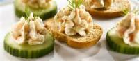 Appetizers - Salmon Mousse Canapes