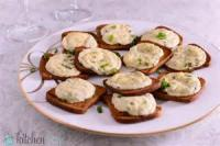 Appetizers - Seafood Crab Meat Parmesan Canapes