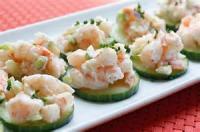 Appetizers - Seafood -  Cucumber Shrimp Appetizer
