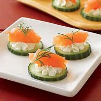 Appetizers - Seafood -  Salmon And Cucumber Appetizers