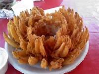 Appetizers - Onion Blossom With Dipping Sauce