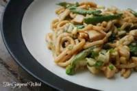 Asian - Pasta -  Udon Noodles With Asian Vegetables And Peanut Sauce