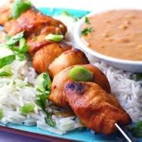 Asian - Chicken Satay With Spicy Peanut Sauce