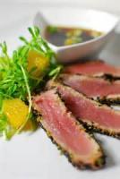 Asian - Seafood -  Seared Tuna With Fresh Wasabi Sauce