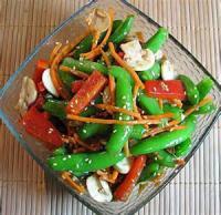 Asian - Salad -  Sugar-snap-pea Salad With Sweet Ginger-soy Dressing