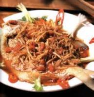 Asian - Seafood -  Steamed Fish With Ginger-wine Sauce