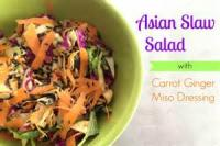 Asian - Salad -  Oriental Salad With Miso Dressing