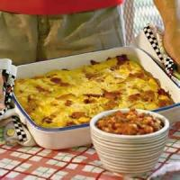 Breakfastandbrunches - Casserole -  Egg And Sausage Breakfast Dish