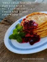 Breakfastandbrunches - Pancakes -  Low Carb Cottage Cheese Pancakes