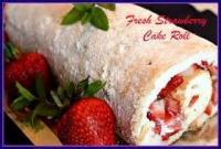Cakesandfrostings - Cake Angel Food Strawberry Roll
