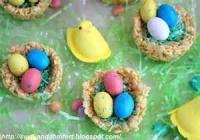 Candy - Bird Nests -  Easter Krispy Nests