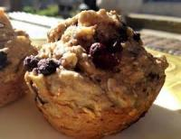 Bread - Muffins Banana Blueberry Oatmeal Muffins