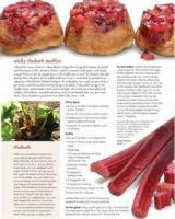 Bread - Muffins Sticky Rhubarb Muffins