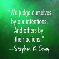 That The Intention Is Judge Of Our Actions
