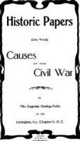 The Old South (the Causes Of The Civil War)