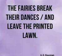The Fairies Break Their Dances