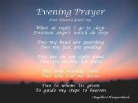 A Child's Evening Prayer
