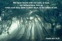 Psalm 44 (lord, We Have Heard Thy Works Of Old)