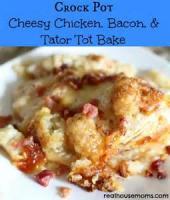 Casseroles - Chicken Crockpot Cheesy Chicken Casserole