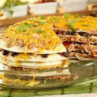 Casseroles - Mexican Vegetarian Layered Tortilla