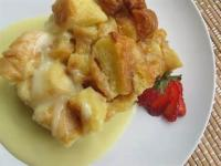 Desserts - Bread Pudding -  White Chocolate Bread Pudding With White Chocolate Sauce