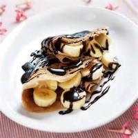 Desserts - Sweet Crepes With Chocolate Topping