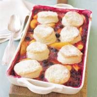 Desserts - Nectarine Blueberry Cobbler