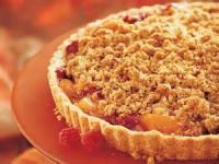Desserts - Crisp -  Peach And Raspberry Streusel