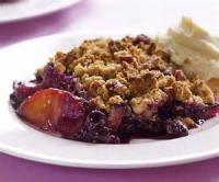 Desserts - Spicy Apple Blueberry Crunch