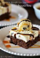 Desserts - Brownie Ice-cream Bars