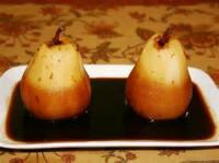 Desserts - Fruit -  Coffee Poached Pears