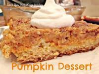 Desserts - Favorite Pumpkin Dessert