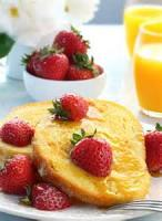 Desserts - Yorkshire Pancake With Lemon And Fresh Berries