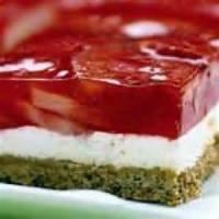 Desserts - Jello Dessert With Pretzels