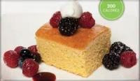 Desserts - Sweet Corn Bread With Mixed Berries And Berry Coulis