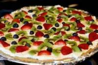 Desserts - Pizza -  Fruit Pizza With Orange Sauce