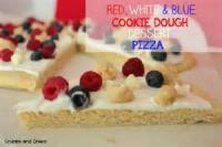 Desserts - Pizza -  Easy Independence Day Cookie Pizza